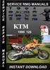 Thumbnail 1999 KTM 125 Service Repair Manual Download