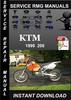 Thumbnail 1999 KTM 200 Service Repair Manual Download