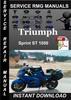 Thumbnail Triumph Sprint ST 1050 Service Repair Manual Download