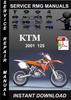 Thumbnail 2001 KTM 125 Service Repair Manual Download