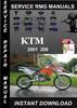 Thumbnail 2001 KTM 200 Service Repair Manual Download