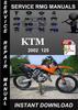 Thumbnail 2002 KTM 125 Service Repair Manual Download