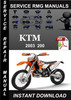 Thumbnail 2003 KTM 200 Service Repair Manual Download