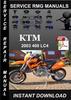 Thumbnail 2003 KTM 400 LC4 Service Repair Manual Download