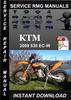 Thumbnail 2009 KTM 530 EC-W Service Repair Manual Download