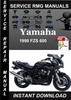 Thumbnail 1998 Yamaha FZS 600 Service Repair Manual Download
