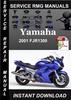 Thumbnail 2001 Yamaha FJR1300 Service Repair Manual Download