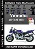 Thumbnail 2001 Yamaha FZS 1000 Service Repair Manual Download
