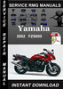 Thumbnail 2002 Yamaha FZS600 Service Repair Manual Download