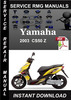Thumbnail 2003 Yamaha CS50 Z Service Repair Manual Download