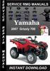 Thumbnail 2007 Yamaha Grizzly 700 Service Repair Manual Downlod