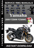 Thumbnail 2009 Yamaha FZS6W FZS6WC Service Repair Manual Download
