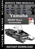 Thumbnail Yamaha BR250F Bravo Snowmobile Service Repair Manual Downloa