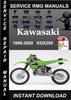 Thumbnail 1998 1999 2000 Kawasaki KDX200 Service Repair Manual Downloa