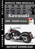 Thumbnail 2000 Kawasaki VN2000 Vulcan Service Repair Manual Download