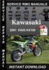 Thumbnail 2001 Kawasaki KX85 KX100 Service Repair Manual Download