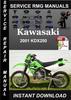 Thumbnail 2001 Kawasaki KDX200 Service Repair Manual Download