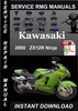 Thumbnail 2000 Kawasaki ZX12R Ninja Service Repair Manual Download