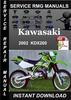 Thumbnail 2002 Kawasaki KDX200 Service Repair Manual Download