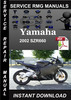 Thumbnail 2002 Yamaha SZR660 Service Repair Manual Download