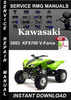 Thumbnail 2003 Kawasaki KFX700 V-Force Service Repair Manual Download