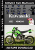 Thumbnail 2003 Kawasaki KDX200 Service Repair Manual Download