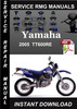 Thumbnail 2005 Yamaha TT600RE Service Repair Manual Download