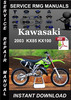 Thumbnail 2003 Kawasaki KX85 KX100 Service Repair Manual Download
