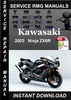 Thumbnail 2003 Kawasaki Ninja ZX6R Service Repair Manual Download