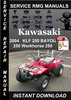Thumbnail 2004 Kawasaki KLF 250 BAYOU 250 Workhorse 250 Service Repair