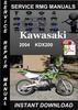 Thumbnail 2004 Kawasaki KDX200 Service Repair Manual Download
