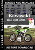 Thumbnail 2004 Kawasaki KX85 KX100 Service Repair Manual Download