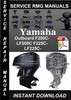 Thumbnail Yamaha Outboard F200C-LF200C F225C-LF225C Service Repair Man