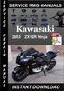 Thumbnail 2003 Kawasaki ZX12R Ninja Service Repair Manual Download