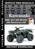 Thumbnail 2005 Kawasaki KLF 250 BAYOU 250 Workhorse 250 Service Repair