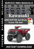 Thumbnail 2005 Kawasaki KVF750 4x4 Brute Force 750 4x4i Service Repair