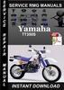 Thumbnail Yamaha TT350S Service Repair Manual Download