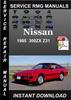 Thumbnail 1985 Nissan 300ZX Z31 Service Repair Manual Download