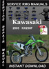 Thumbnail 2005 Kawasaki KX250F Service Repair Manual Download