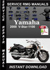 Thumbnail 2000 Yamaha V-Star-1100 Service Repair Manual Download