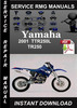 Thumbnail 2001 Yamaha TTR250L TR250 Service Repair Manual Download