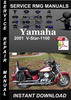 Thumbnail 2001 Yamaha V-Star-1100 Service Repair Manual Download