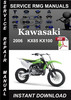 Thumbnail 2006 Kawasaki KX85 KX100 Service Repair Manual Download