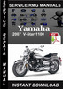 Thumbnail 2007 Yamaha V-Star-1100 Service Repair Manual Download