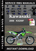 Thumbnail 2006 Kawasaki KX250F Service Repair Manual Download