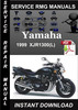 Thumbnail 1999 Yamaha XJR1300(L) Service Repair Manual Download
