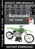 Thumbnail 2007 Kawasaki KX250F Service Repair Manual Download