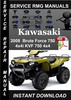 Thumbnail 2008 Kawasaki Brute Force 750 4x4i KVF 750 4x4 Service Repai