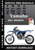 Thumbnail 2003 Yamaha WR450FR Service Repair Manual Download