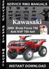 Thumbnail 2009 Kawasaki Brute Force 750 4x4i KVF 750 4x4 Service Repai